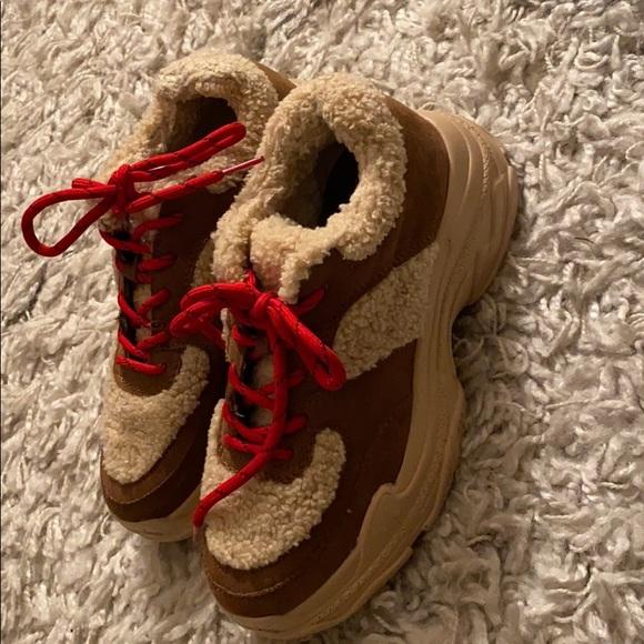 Cute furry sneakers